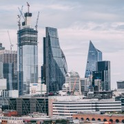 Skyscrapers rising across London.