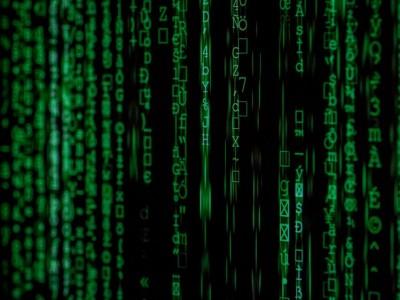Computer screen showing Hacker binary attack code
