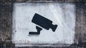 A security camera painted on a wall- Remote Report