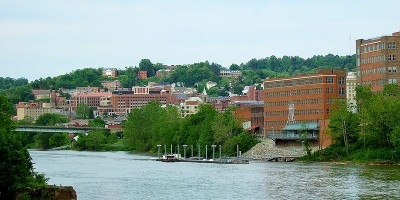 West Virginia University downtown campus from the Monongahela River- Remote Report