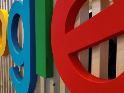 Google letters along fence