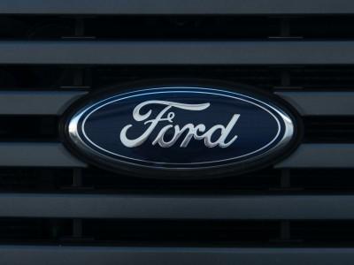 Ford emblem on car grille