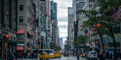 View of traffic and pedestrians on New York streets- Remote Report