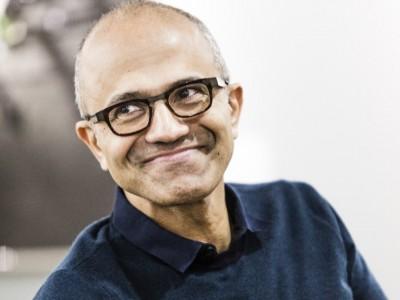 Microsoft CEO Satya Madella smiling