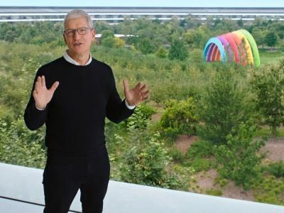 Tim Cook in September 2020 at Apple Park.
