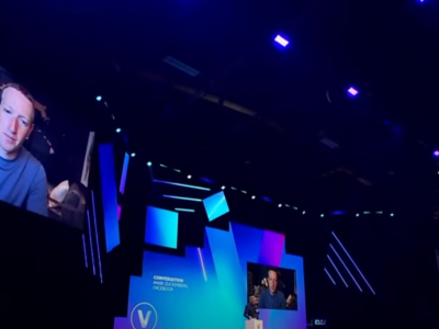 Facebook CEO Mark Zuckerberg speaks at the VivaTech conference