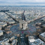 Paris France from the air