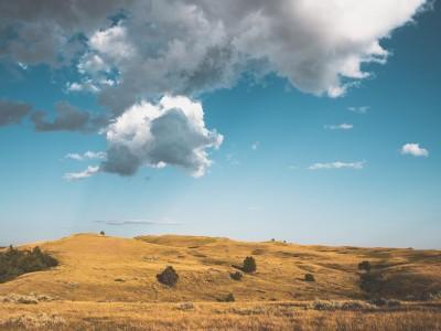 Prairie at Theodore Roosevelt National Park, North Dakota, USA