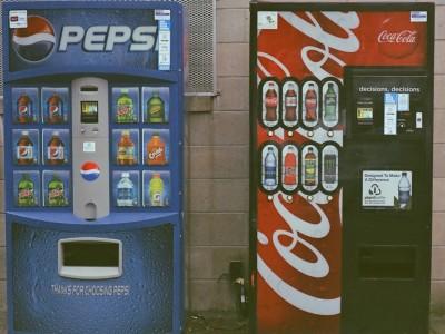 Pepsi and Coke vending machines