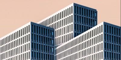 White concrete office building