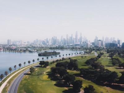Melbourne, australia on horizon