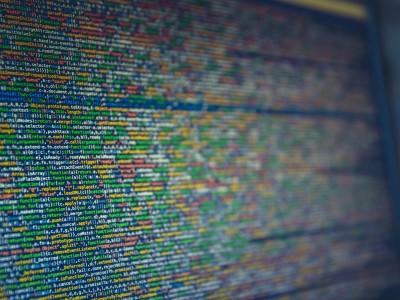 Computer screen full of code
